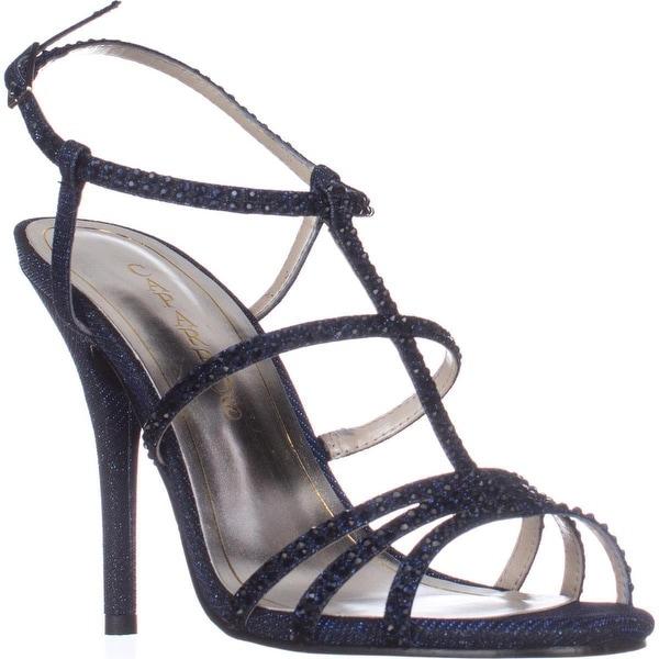 Caparros Groovy Embellished Evening Sandals, Navy Glimmer