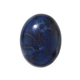 Blue Sodalite Gemstone Oval Flat-Back Cabochons 25x18mm (1 Piece)