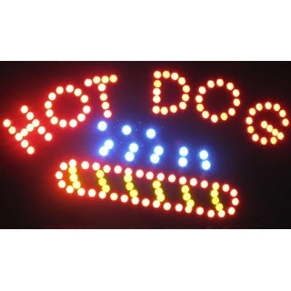 2xhome Hot Dog Cleaners Multi-Color LED Restaurant, Business, And Store Sign with Animation Effects & Motion Flashing Capabilit