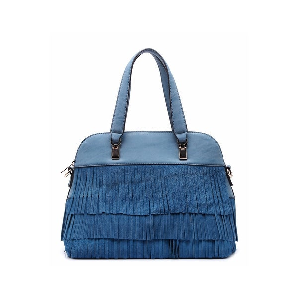 Shop Style Strategy Ramona Fringe Shoulder Bag Denim - Free Shipping ... ef2fe0a71d
