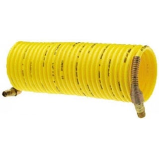 "Amflo 4-25E-RET Nylon Recoil Air Hose, Yellow, 1/4"" x 25'"