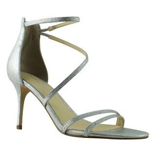 Ivanka Trump Womens Itgenese Silver Sandals Size 8.5