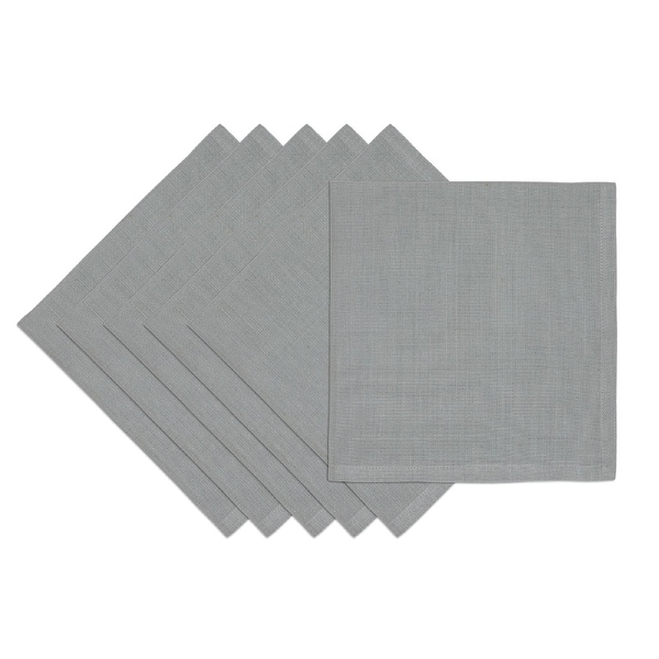 3cdcbcba5eb8 Shop Set of 6 Dove Gray Solid Patterned Rectangular Reusable Cloth Napkins  19