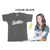 Smith's American Black Vintage Distressed T-Shirt Women's S/M Small/Medium