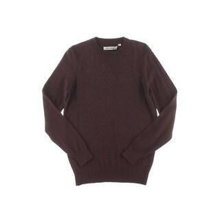 Ben Sherman Mens Pullover Sweater Ribbed Trim Chevron Pattern