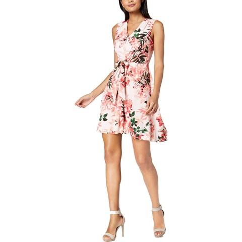 Calvin Klein Womens Cocktail Dress Floral Print Sleeveless