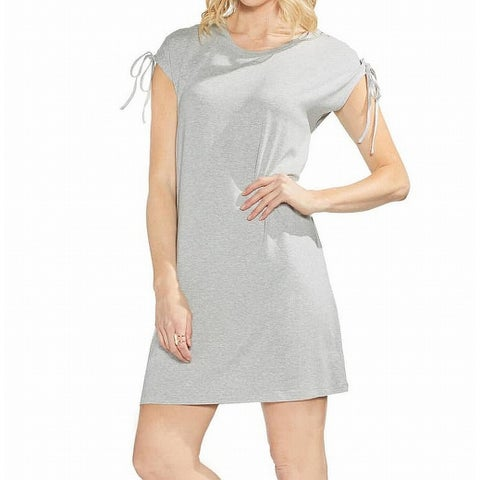 Vince Camuto Gray Laced Up Sleeve Women's Size Small S Shift Dress