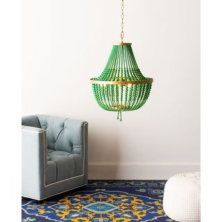 "Link to Safavieh Collection Inspired by Disney's Live Action Film Aladdin-Safavieh Lighting Prince Chandelier - 16.5"" x 16.5"" x 25-97"" Similar Items in Chandeliers"