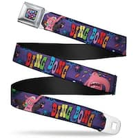 Scattered Candy Full Color Purples Bing Bong Poses Candy Purples Multi Seatbelt Belt