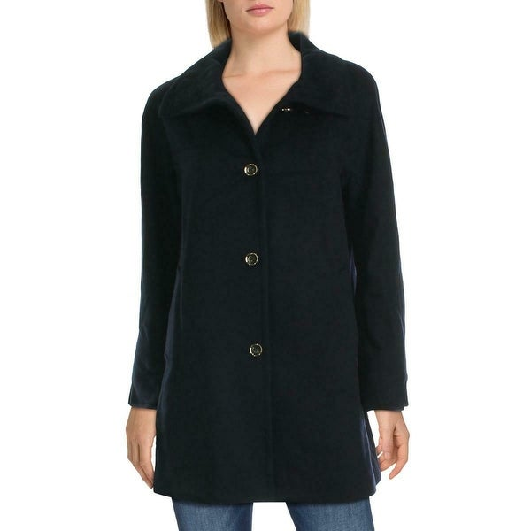 Karl Lagerfeld Womens Coats Ink Black Size Large L Single-Breasted. Opens flyout.