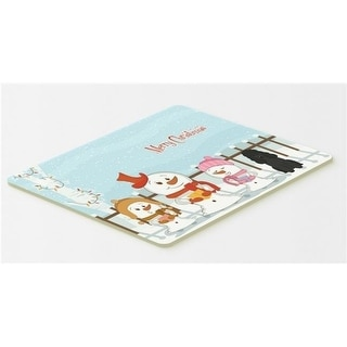 Carolines Treasures BB2402CMT Merry Christmas Carolers Poodle Black Kitchen or Bath Mat 20 x 30