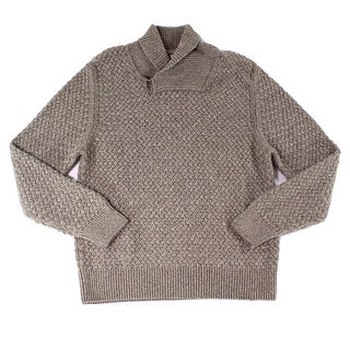 Billy Reid NEW Brown Mens Size Large L Shawl Collar Cashmere Sweater