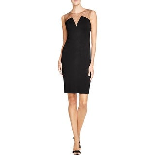 Bailey 44 Womens Cocktail Dress Embellished Illusion