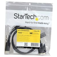 Startech Hdmi To Vga Cable – 3 Ft / 1M – 1080P – 1920 X 1200  – Active Hdmi Cable – Monitor Cable – Computer Cable