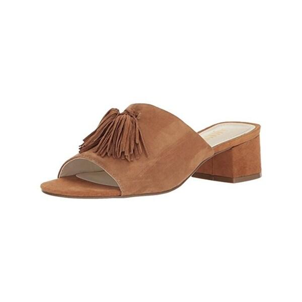 Anne Klein Womens Salome Slide Sandals Tassel