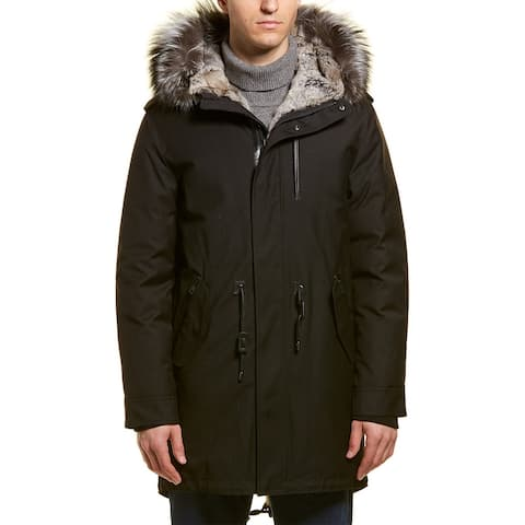 Mackage Moritz X Leather-Trim Parka