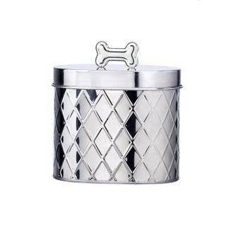 Amici Pet Diamond Texture Metal Treats Storage Canister