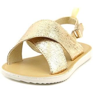 Osh Kosh Rina Youth Open-Toe Canvas Gold Slingback Sandal