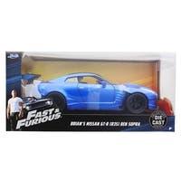 Fast & Furious 1:24 Diecast Vehicle: Brian's Nissan GT-R (R35) Bensopra, Blue - Multi