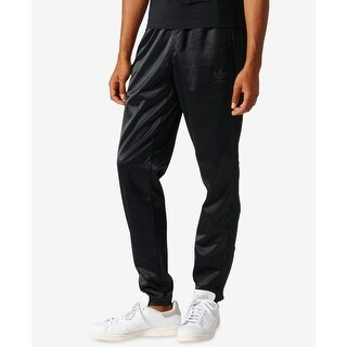 Adidas Deep Black Mens Size Large L Pull-On Jogger Pants Stretch