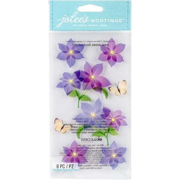 Jolee's Boutique Dimensional Stickers-Purple Flowers - Purple