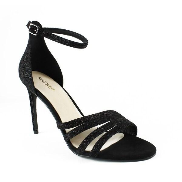 3696ca4f9b3c Shop Nine West Womens 25029708 Black Ankle Strap Heels Size 10.5 ...