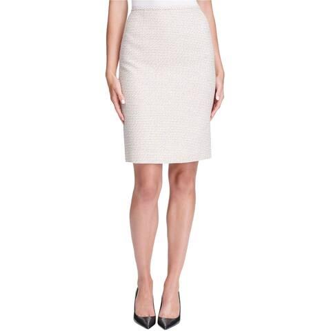 Calvin Klein Womens Tweed Pencil Skirt
