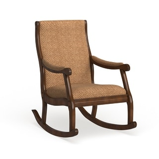 Link to Furniture of America Chloie Oak Fabric Rocking Chair Similar Items in Living Room Chairs
