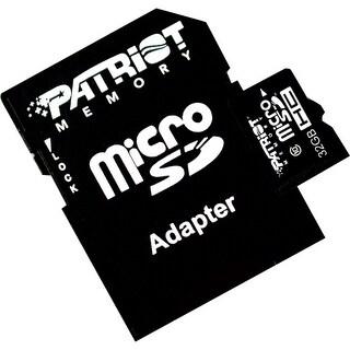 Patriot Memory PSF32GMCSDHC10 Patriot Memory 32GB microSDHC Class 10 Flash Card - Class 10 - 1 Card