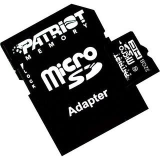 Patriot Memory PSF32GMCSDHC10 Patriot Memory 32GB microSDHC Class 10 Flash Card - Class 10 - 1 Card|https://ak1.ostkcdn.com/images/products/is/images/direct/6b65217612f5969db27997eb19fc176a848d0542/Patriot-Memory-PSF32GMCSDHC10-Patriot-Memory-32GB-microSDHC-Class-10-Flash-Card---Class-10---1-Card.jpg?impolicy=medium