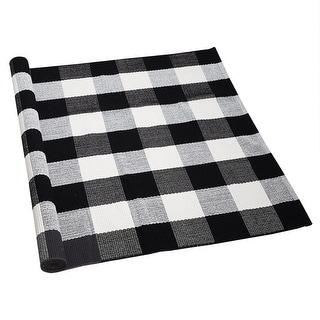 Link to Cotton Checkered Plaid Floor Area Rug Runner Carpet Mat Indoor Outdoor Similar Items in Classic Rugs