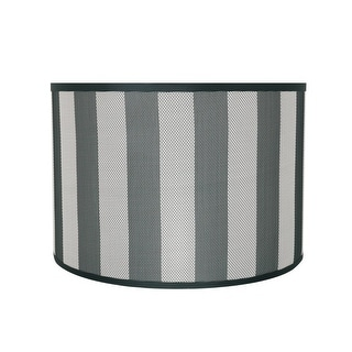 """Link to Aspen Creative Drum (Cylinder) Shaped Spider Construction Lamp Shade in Hunter Green & White Striped (16"""" x 16"""" x 11"""") Similar Items in Lamp Shades"""