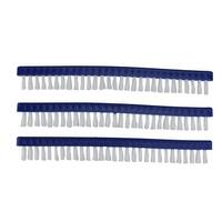 """Pack of 3 Long Replacement Brushes For Swimming Pools and Spas Vacuum Head 9"""" - White"""