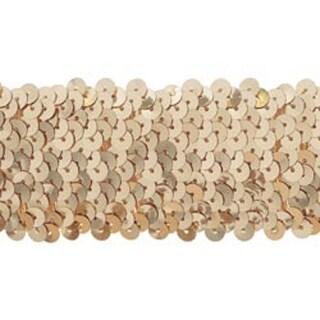 "Gold - 5 Row Stretch Sequins 1-3/4""X8yd"