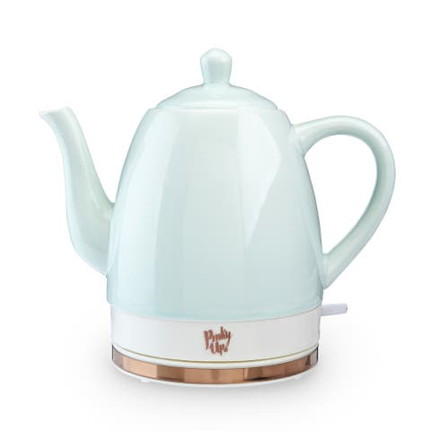 "Noelle Ceramic Electric Tea Kettle by Pinky Up - 9"" x 6"""