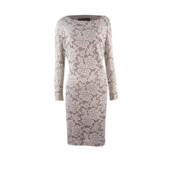 d60ab3ae3c219 Shop Jessica Howard Women's Illusion Lace Sheath Dress - On Sale - Free  Shipping Today - Overstock - 20310452