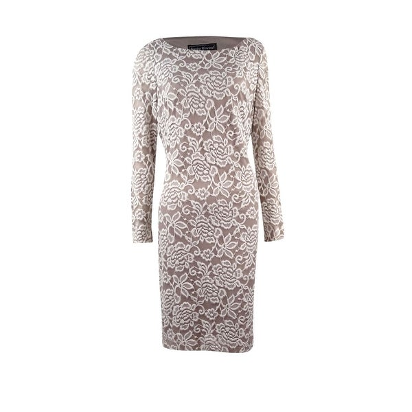 d3c42c88af084 Shop Jessica Howard Women's Long Sleeve Rosy Lace Dress - Free Shipping On Orders  Over $45 - Overstock - 17118309