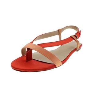 Zara Trafaluc Womens Satin Thong Slingback Sandals - 8 medium (b,m)