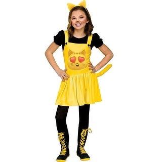 Girls Nerd Cat Heart Eyes Emoji Movie Costume