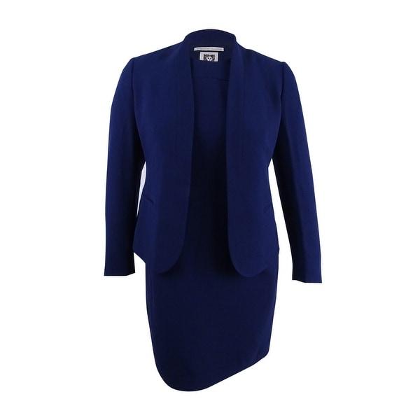 Shop Anne Klein Women S Shawl Collar Sleeveless Sheath Dress Suit