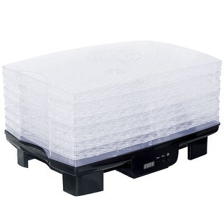 Costway 550W Food Dehydrator 6 Stackable Trays Digital Fruit Vegetable Dryer