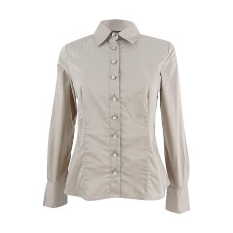 Sutton Studio Women's Rhinestone Button Shirt - 4P
