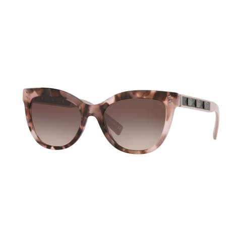 Valentino VA4049 506713 54 Havana Pink Woman Cat Eye Sunglasses