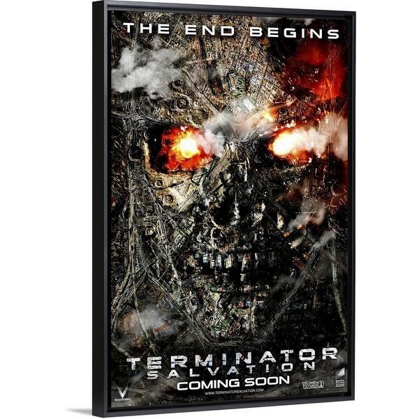 Shop Terminator Salvation 2009 Black Float Frame Canvas Art Overstock 26973911