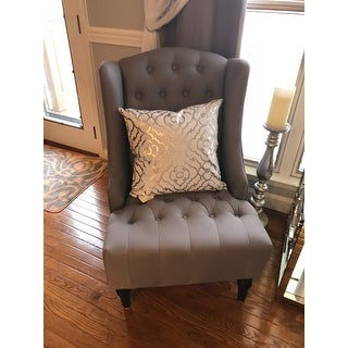 Shop Belleze Modern Wingback Tufted Nailhead Accent Chair