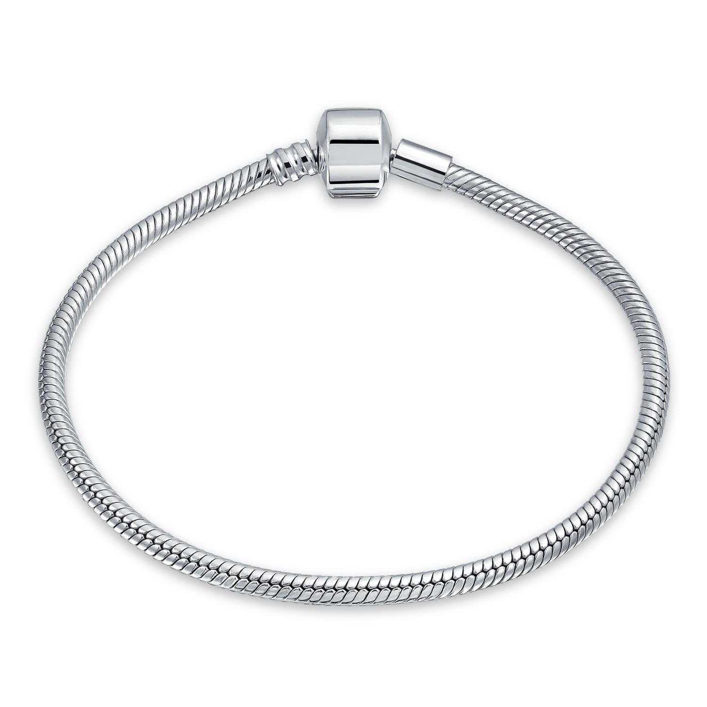 New Gold Chaîne Serpent Bracelets Bangle Fit 925 European Charm Beads