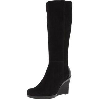 La Canadienne Womens Ilenna Suede Waterproof Wedge Boots