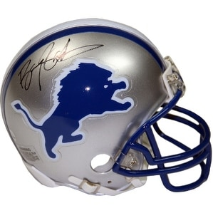 low priced 4c1e4 0fa3e Barry Sanders signed Detroit Lions TB Riddell Mini Helmet Steiner Hologram  Black sig
