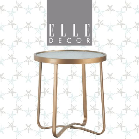 Elle Decor Mirabelle Outdoor Side Table, French Gold