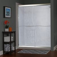 """Miseno MSDS6072Q Suave 72"""" High x 58-60"""" Wide Sliding Framed Shower Door with 1/4"""" Clear Glass - N/A"""